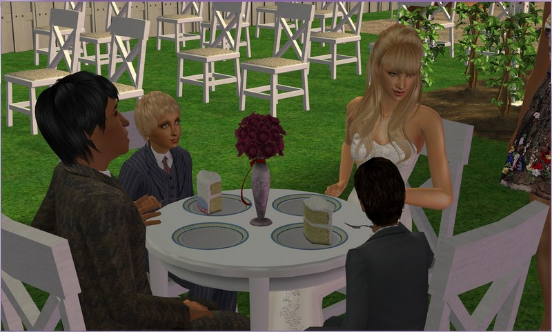 Sims  Cooking Wedding Cake